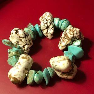 White Buffalo and # 8 turquoise bracelet